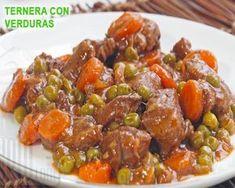 ragú de ternera con zanahorias Mole, Egyptian Food, Deli Food, Carne Asada, Small Meals, Healthy Smoothies, Tapas, Dinner Recipes, Food And Drink