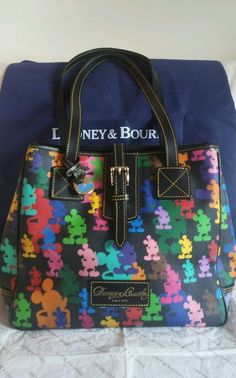 Disney, Dooney & Bourke, Colorful Mickey Mouse Handbag, Large, Leather in Collectibles, Disneyana, Contemporary (1968-Now)   eBay
