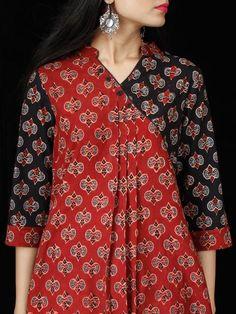 Cherry Red Black Ajrakh Hand Block Printed Kurta - K160F1775 Latest Kurti Design KANKALI DEVI TEMPLE, MADHYA PRADESH PHOTO GALLERY  | TEMPLEPUROHIT.COM  #EDUCRATSWEB 2020-03-01 templepurohit.com https://www.templepurohit.com/wp-content/uploads/2015/12/Tigawa-3.jpg
