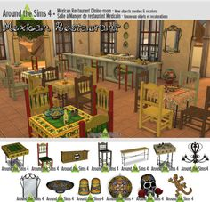 Around the Sims 4 | Mexican Restaurant I'm pretty sure I'm the only one who needs this set, but since my first visit in Oasis Spring bar, back in…