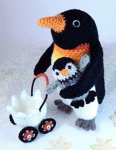 #Knitulator #sammelt #Ideen Crochet penguin. (Inspiration).