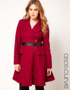 Plus Size peplum coat