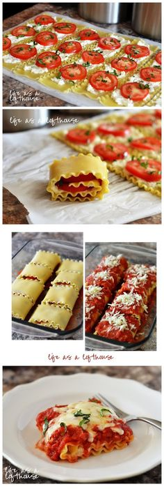 Caprese Lasagna Roll Ups, except I would put hamburger meat instead of tomatoes and use different cheese