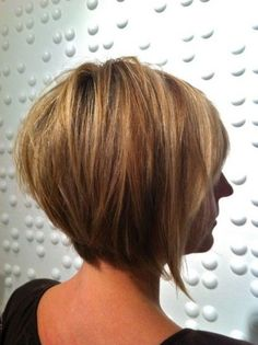 20 Trendy Stacked Hairstyles for Short Hair: Practicality Short Hair Cuts Short Stacked Haircuts, Layered Bob Hairstyles, Haircuts For Fine Hair, Short Bob Haircuts, Haircut Short, Trendy Haircuts, Short Hair Cuts For Women, Short Hairstyles For Women, Straight Hairstyles