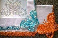 Luty Artes Crochet: Barrados de borboletas