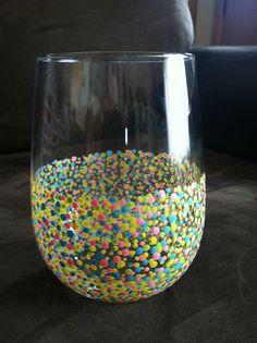 Hand Painted Wine Glasses (Set of 4) via Etsy