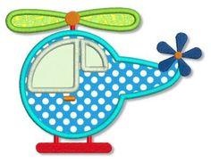 HELICOPTER Applique 4x4 5x7 Machine Embroidery Design boy girl baby child  INSTANT Download. $2.25, via Etsy.