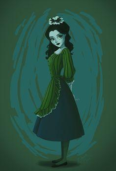 Morbid maid by Emmacabre on DeviantArt Disney Rides, Disney Parks, Disney Pixar, Disney Characters, Disney Fan Art, Disney Love, Haunted Mansion Costume, Haunted Mansion Disney, Bizarre