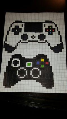 Mandos pixel art Graph Paper Drawings, Graph Paper Art, Easy Drawings, Tiny Cross Stitch, Cross Stitch Patterns, Emoji Patterns, Modele Pixel Art, Pixel Art Grid, Pixel Drawing
