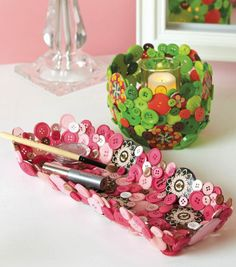 Button Tray | DIY Home Decor Accessories | Button Bowl | Check out buttons from @Jo-Ann Fabric and Craft Stores