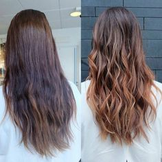 The power of a cut + color session.  Coppery valayage ombre by Emma @rapunzel.stockholm.  For salon appointments, tap the link in bio!  #rapunzelofsweden