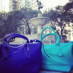 The new Legacy Molly in Ultra Violet and Tourmaline near 5th Avenue #coachlovescolor - @Coach, Inc.- #webstagram