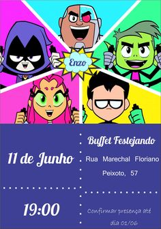 Teen Titans Go, Kids Party Themes, We Bare Bears, Frozen Party, Love Pictures, Power Rangers, Baby Boy, Baby Shower, Birthday