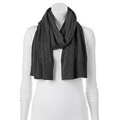 Apt. 9® Cashmere Cable-Knit Oblong Scarf