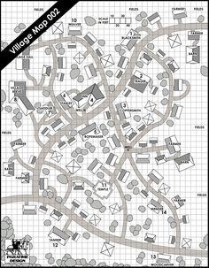 Village Map 002 - Paratime Design | Location Maps | DriveThruRPG.com