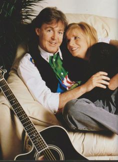 Paul & Linda Photo source Beatles' Wives & Girls Facebook Page