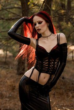 goth beauty #gothic #women #beauty