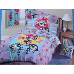 Girls Bedding Powerpuff Girls Psychedelic Bed In A Bag