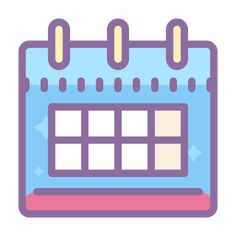 Calendar icons in Cute Color style for graphic design and user interfaces App Store Icon, Google Icons, Snapchat Logo, Cute App, App Background, Iphone Icon, App Covers, Calendar App, App Icon Design