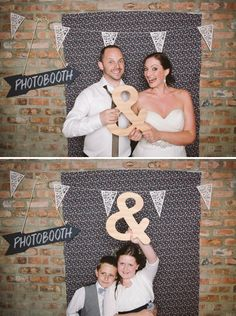 more photobooth ideas...i like how ou can see outside of the backdrop