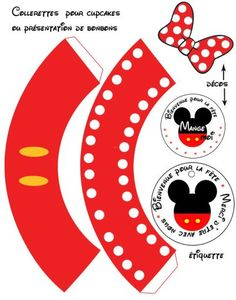 Mickey and Minnie in Red: Cute Free Printable Cupcake Wrappers and Toppers. Mickey Mouse E Amigos, Mickey E Minnie Mouse, Theme Mickey, Fiesta Mickey Mouse, Mickey Mouse Parties, Mickey Party, Mickey Mouse And Friends, Mickey Mouse Clubhouse, Mickey Mouse Birthday