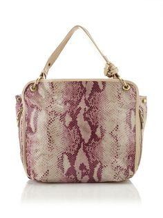 c.lili by Coralie Charriol Lorena Embossed Leather Shoulder Bag  $158