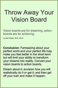 Article | Throw Away Your Vision Board --turn it into an action board | |www.CamerinRoss.com