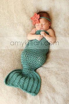 Newborn Baby Girl Crochet Mermaid Photography Photo Prop Outfit - handmade in Cameras & Photo, Lighting & Studio, Props & Stage Equipment | eBay