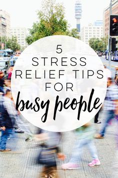 Are you busy? Always on the go? Need stress relief but don't think you have time for self-care? These 5 stress relief tips are for you!