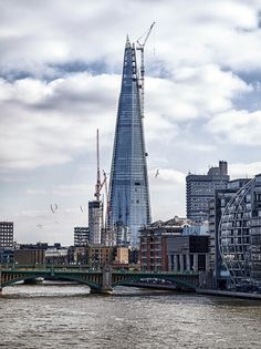 The Shard London under construction - tallest building in Europe