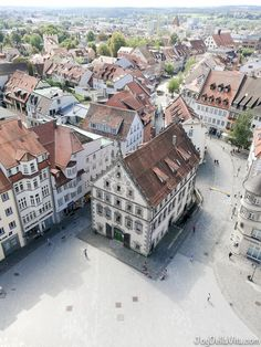Marienplatz Ravensburg - View from Blaserturm in Ravensburg, southern Germany by JoyDellaVita https://joydellavita.com/climbing-blaserturm-ravensburg-southern-germany/