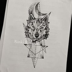 geometric wolf - Αναζήτηση Google                                                                                                                                                                                 Más