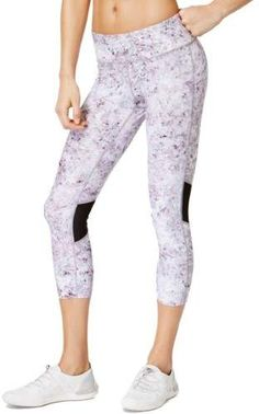 3dd60cab08d593 Calvin Klein Performance Womens Yoga Shimmer-Print Athletic Leggings Capri  Leggings, Women's Leggings,