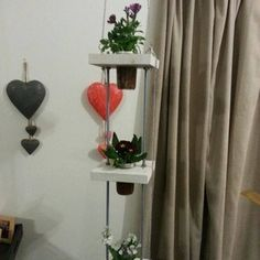 HANGING GARDENS – another JAR GARDEN PRODUCT Have a compact garden in a jiffy! Takes up limited space and the plants are easy to maintain. It is a beautiful feature to have inside your home. It includes three of our famous JAR GARDENS of your choice. Prices R800-00 (excluding delivery and installation). Contact us on jargardenhydro@gmail.com or 0822566867 for more information. Jar, Home Decor, Inside, Hanging, Hanging Garden