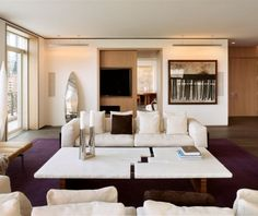Living Room, (NYC) Interior Design: Legorreta + Legorreta Upper West Side,