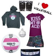Grace's volleyball outfit, created by laurina55 on Polyvore