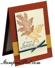 fall idea - cards, thank you's...party invites