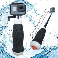 Waterproof Extendable Hand Grip Plus Floating GoPro Pole Gopro Pole, Gopro Camera, Selfie Stick, Sticks, Top, Photography, Accessories, Fotografie, Gopro Kamera