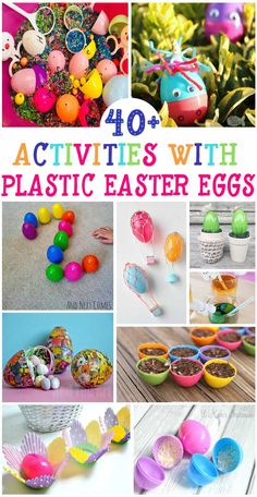 47 Plastic Eggs Activities for Easter - so many fun Easter crafts and Easter activities for kids using Easter eggs activities 47 Plastic Eggs Activities for Easter Plastic Easter Eggs, Easter Art, Easter Crafts For Kids, Plastic Egg Crafts For Kids, Easter Eggs Kids, Easter Bunny, Easter Activities For Kids, Spring Activities, Educational Activities