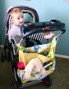 How to Sew a Stroller Bag, for the doll pram for E for Christmas