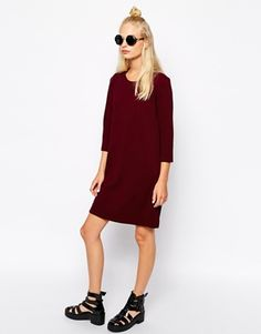 Enlarge Monki 3/4 Sleeve Knitted Dress