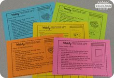 These Weekly Multiplication Games are sure to be a hit with students AND parents! Plus, they're a great resources for multiplication facts!