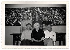 Citation: Jackson Pollock with his mother and brothers, 1950 / unidentified photographer. Jackson Pollock and Lee Krasner papers, Archives of American Art, Smithsonian Institution.