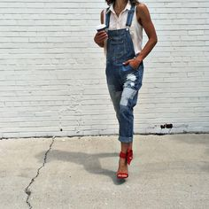 Overalls are always a good look. || Shop the Nasty Gal Over it Denim Overalls: http://www.nastygal.com/product/nasty-gal-over-it-denim-overalls?utm_source=pinterest&utm_medium=smm&utm_term=stylechat_style&utm_campaign=ngdib