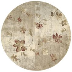 "Nourison Round Area Rug, Somerset ST64 Kiki Multi 5' 6"" ($199) ❤ liked on Polyvore featuring home, rugs, no color, round rugs, floral rug, nourison area rugs, nourison rugs and round woven rug"