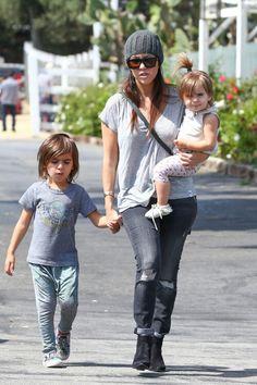 Kourtney Kardashian, her son Mason Dash Disick and her daughter Penelope Disick