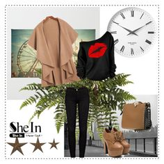 """""""SHEINSIDE CONTEST"""" by almedina-bojic ❤ liked on Polyvore featuring Frame Denim, Valentino, Art for Life and Georg Jensen"""