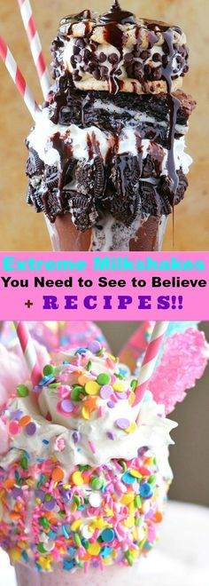 Over the Top Milkshakes You Need to See to Believe - RECIPES Included!