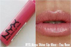 Special Koko : Review: NYX Mega Shine Lip Gloss - Tea Rose!!