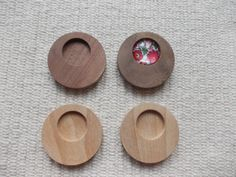 round-shaped pendant/brooch base for jewel or pin making. In the centre of the pendant there is a round-shaped cabochon frame/hole, which gives a more attractive look to the pendant. You can put a little picture, textil or napkin into the hole and then a glass cabochon, too. It is polished.  www.artwoodenstuff.com